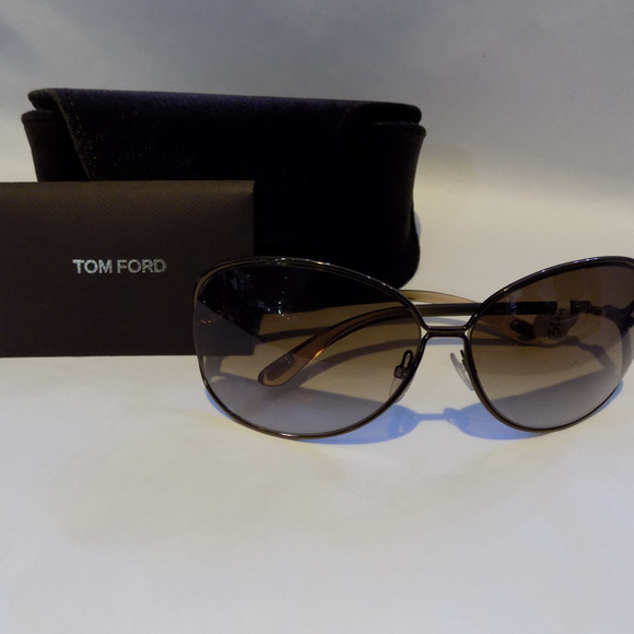 f3bdabc513810 NEW TOM FORD CLEMENCE TF 158 36F BROWN SUNGLASSES